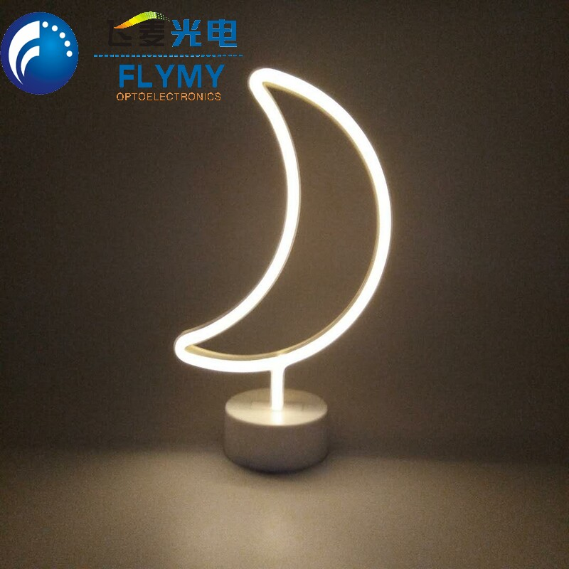 Top sale high quality battery powered neon star flamingo cactus moon cloud rainbow desktop neon sign