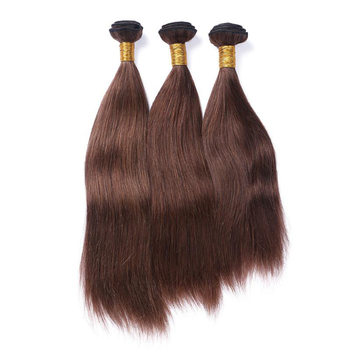 2018 new arrival #4 chocolate brown hair 3bundles brazilian virgin hair unprocessed straight human weaves
