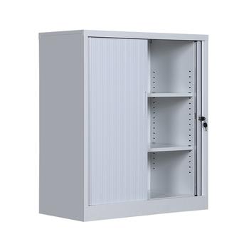 White Roller Shutter Door Steel Cupboard Sliding Pvc Filing Cabinet Mini Storage