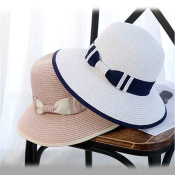543dd1cf1b0 Custom made women bowler beach sun hat spanish straw hat with bowknot band