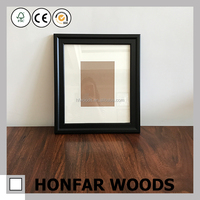 classic black wood picture frame for home decor or hotel guestroom decor