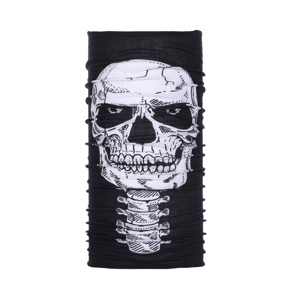 Tube Mask Neck Gaiter Dust Shield seamless skull face <strong>bandanas</strong>