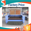 hot sale! Jinan Suhong auto feeding co2 laser cotton fabric/wool felt/leather cutting machine 80w