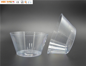 "6"" Diameter Clear PS Material Salad Party Bowls"