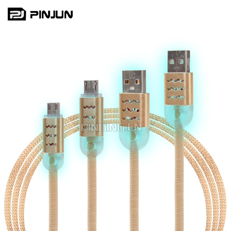 Factory new design price led usb cable , mobile phone cables v8 usb high quality