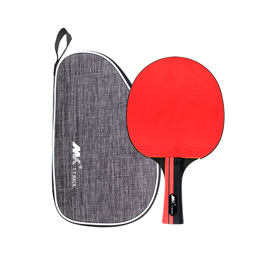 Small MOQ Customized International Standard 7 Layers Wood Carbon Training Ping Pong Paddle Table Tennis Racket with 2mm Sponge