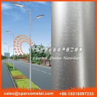 outdoor driveway aluminium solar powered lamp post