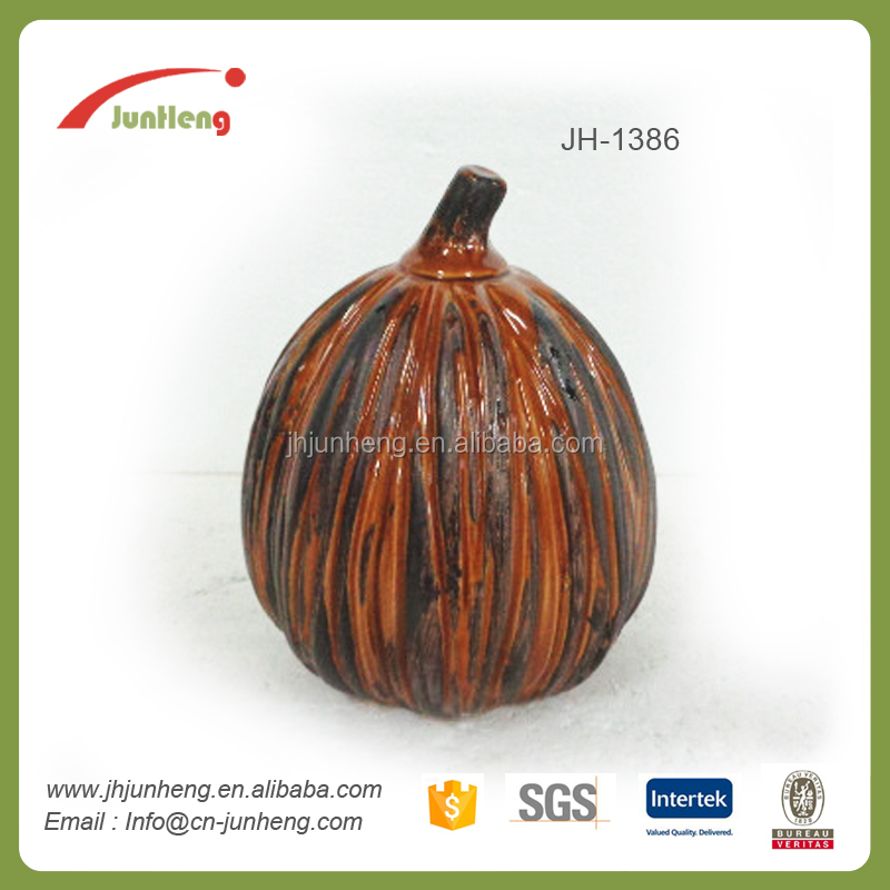 electroplate ceramic decoration, home decor plating pumpkin easy christmas ornaments to make