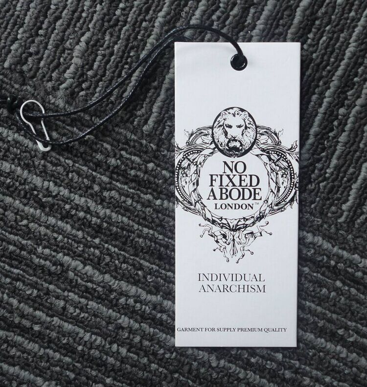 2017 custom high quality off-set printing hang tags with strings