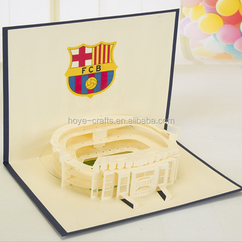 Business postcards football field cards building 3d cut pop up business postcards football field cards building 3d cut pop up handmade greeting card invitation cards with m4hsunfo