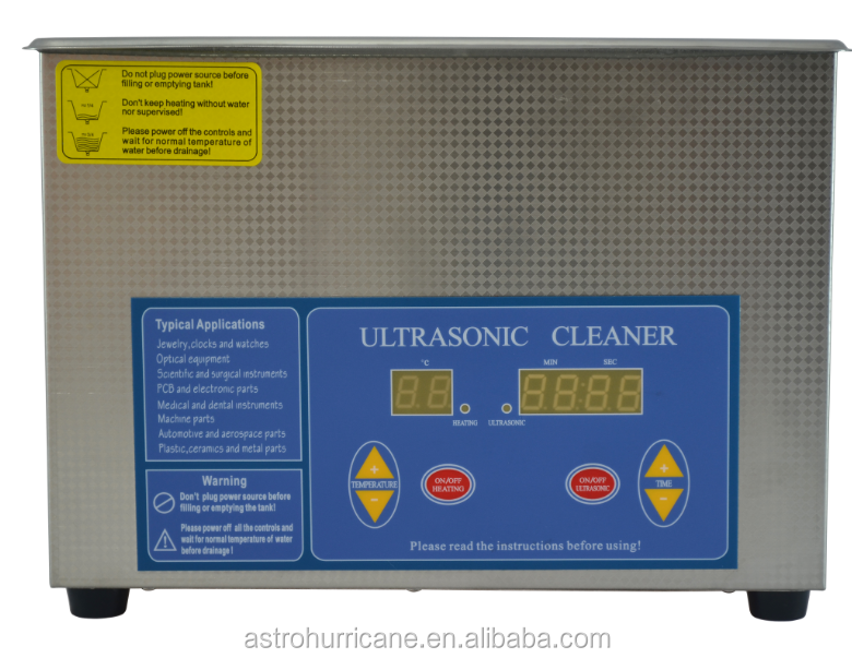 4L ultrasonic cleaner for degassing and sterilization