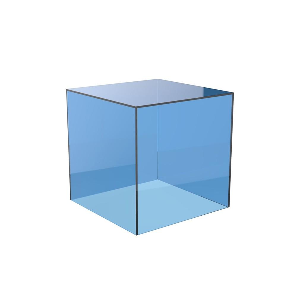 Color Acrílico Exhibición Del Cubo Cuadrado 5 Caras Caja Plexiglás ...