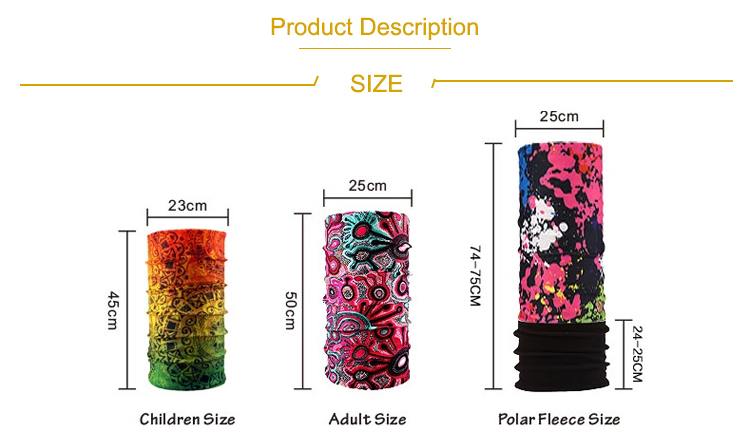 Multi Function Bicycle Bike Cycling Summer Seamless Moisture Wicking Men Bandana with Logo