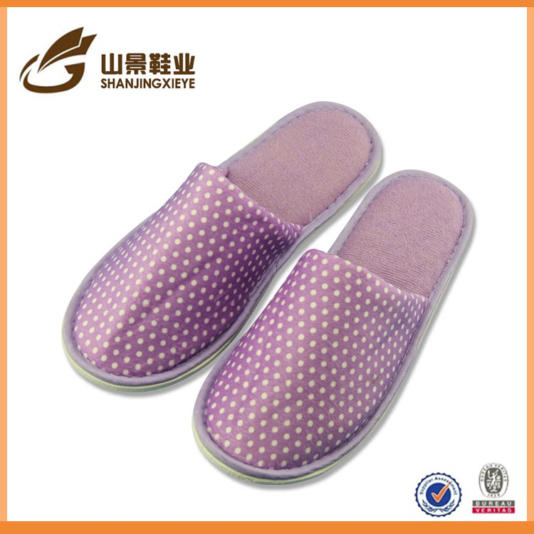 customized logo comfortable platform terry soft felling hotel slippers