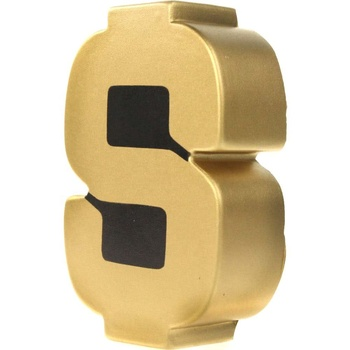 Golden PU Foam Goedkope Stress Speelgoed Dollar Sign