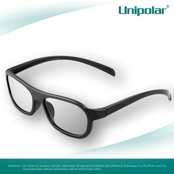 Reusable plastic 3d glasses polarized eyewear