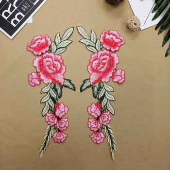 New arrival 2017 customize chinese wind arts and crafts Sinicism flower embroidery lace applique