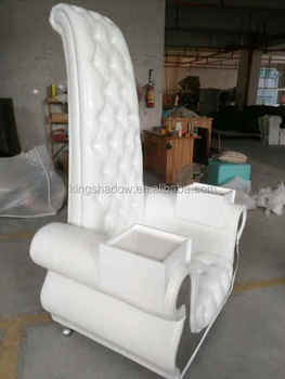 2016 King size white manicure chair pedicure chairs with manicure table for sale & 2016 King Size White Manicure Chair Pedicure Chairs With Manicure ...
