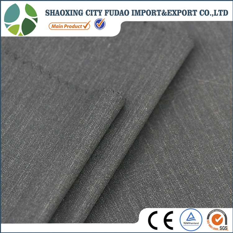Blue english selvage 100 wool suiting fabric for formal suits