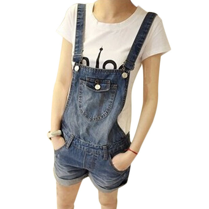 1aa207d15952 Get Quotations · New 2015 Women s Jeans Jumpsuits Denim overalls for women  summer casual straps shorts jumpers women Jumpsuits