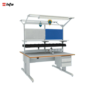 China hot sale custom high quality esd workbench with drawers and lights