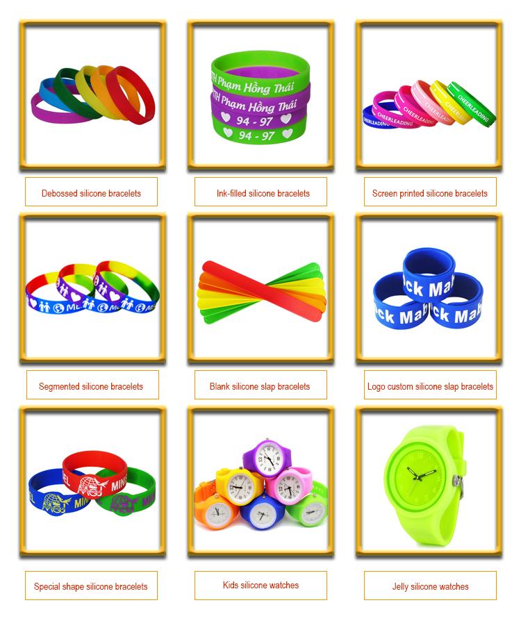 Personnalisé mode kpop merch bijoux en silicone de protection de l'environnement imprimé silicone bracelets