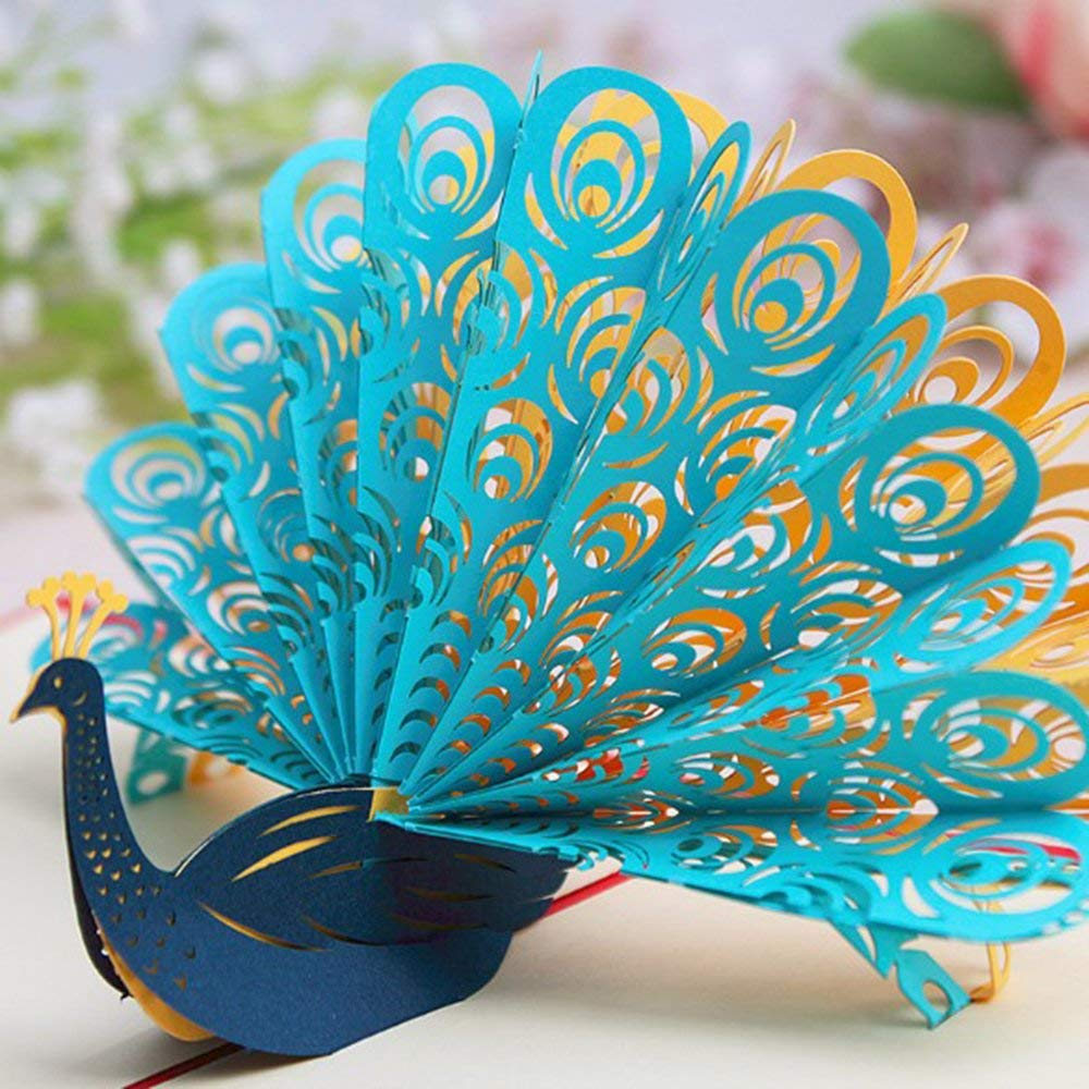 Get Quotations 3d Cards Pop Uppop Up Greeting Peacock Birthday Cards3d Card For Mother