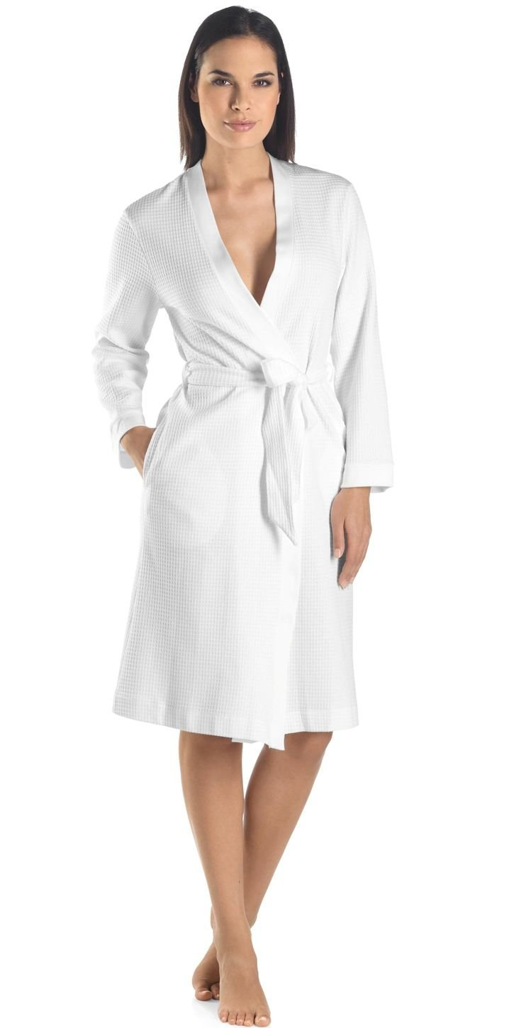93ffe8a793 Get Quotations · San Vincente Waffle Weave Bathrobe - Luxury Hotel Spa  Collection -White