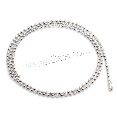 High Quality Various Design 316L Stainless Steel 5 Bead Ball Chain