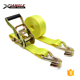 1.5 inch cargo and ratchet lashing belt tie down strap with double J hooks and with polyester webbing