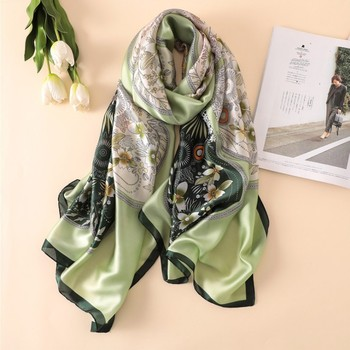 Wholesale Custom Printed 100% Silk Scarf Women Chiffon Scarves
