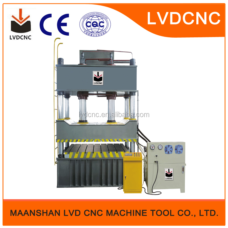 ISO Approved Double Action Hydraulic Deep Drawing Press Solar Water Heater End Cover Making Machine