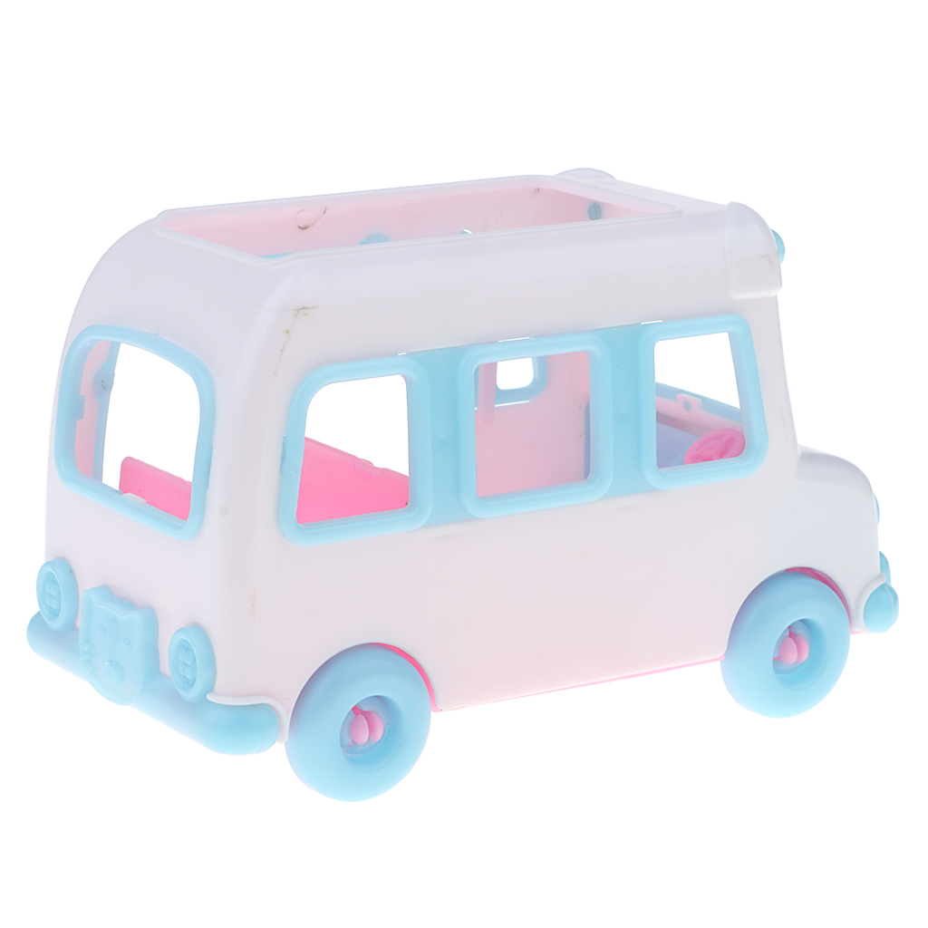 Lovely Mini Private Car Electric Car Model Dolls House Accessory For