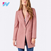 China supplier fashion ladies winter overcoat designs long sleeve winter wool blend long overcoat