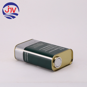 1L Rectangle Car Oil Tin Can Lubricant Tank Engine Oil Container
