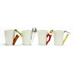 2019 Tool Shaped Hot White Blank Ceramic Mug, Novelty 11Oz Good Quality Sublimation Blank Mug