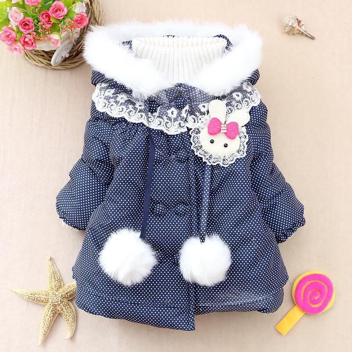 2015 кролик девушки зима теплая куртка дети девочки верхней одежды свитера 2015 KT503R