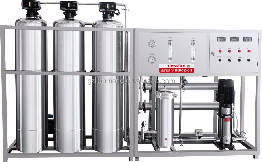 LM-RO-A SS Automatic one stage reverse osmosis water treatment with soft filter