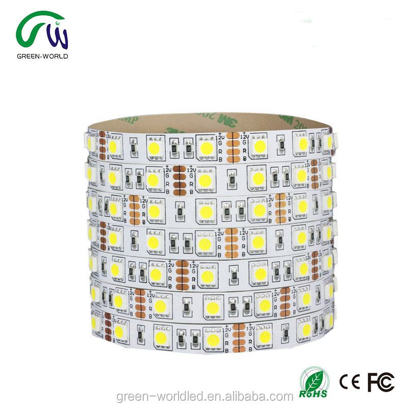 12V 24V smd 5050 high power 14.4W/m outdoor flexible RGB led strip light with free sample