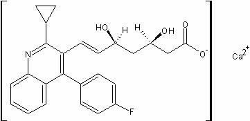匹伐他汀钙/   (+)-双{(3R5S6E)-7-[2-环丙基-4-(4-氟代苯基)