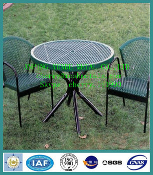 Expanded Metal Mesh Outdoor Furniture Coupling Desk Chair High Quality Round Expandable Dining