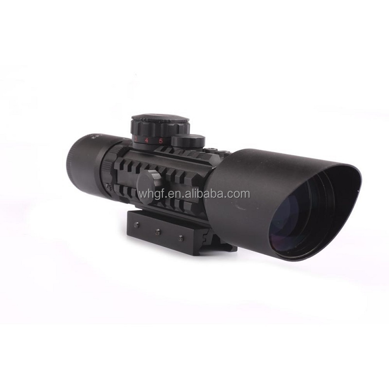 3-10X42 Compact Rifle Scope with Tri-Rail