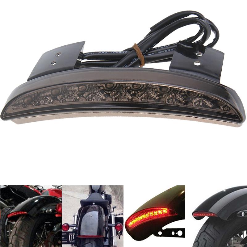 Smoke Lens Motorcycle Fender Edge Led Rear Light Brake For