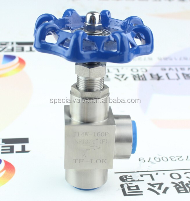 angle needle valve with handle wheel female and female