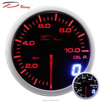 52mm Digital Analog LED Electrical Auto Dual View Stepper Motor Racing Oil Pressure Gauge For Car
