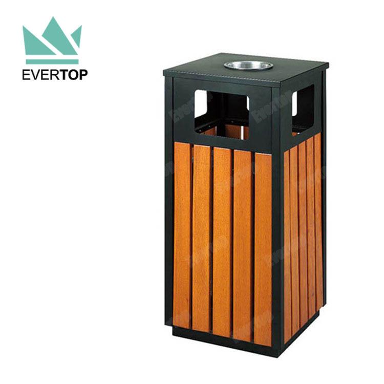 Recycling Mülleimer da78 f öffentlichen runde billige metall mülleimer holz recycling