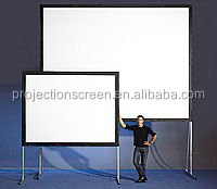 Mobile 3D silver front fast fold projector screen,projection screen, easy move and portable, front and rear projection screen
