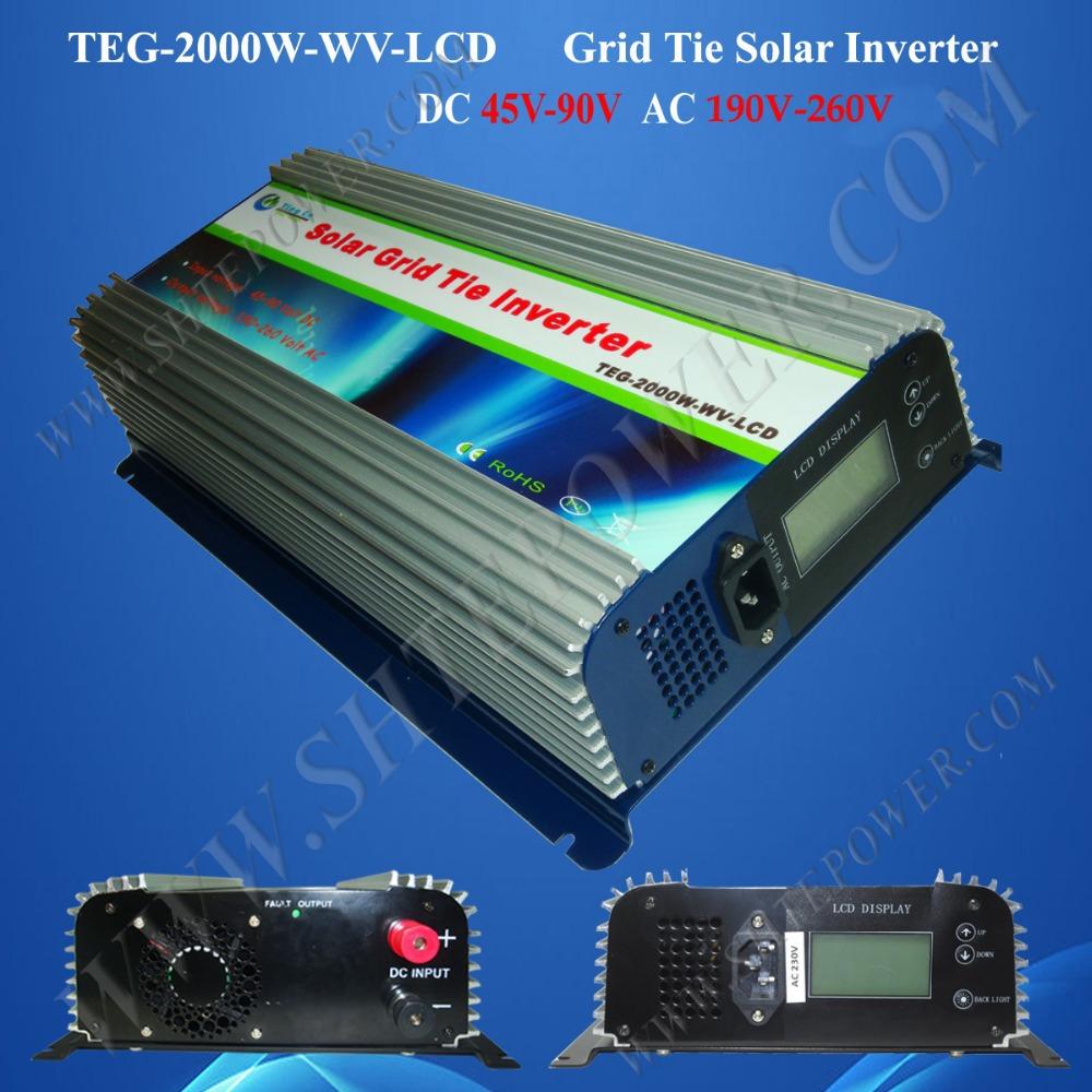 2000W Grid Tie Solar Inverter, MPPT Solar Charge ...