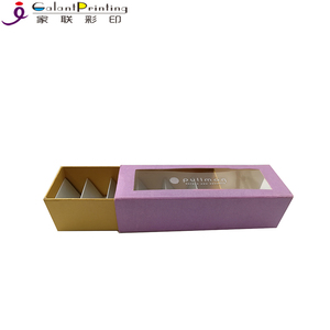 Wholesale Square kraft paper macarons cookie mini cupcake folding packaging boxes with sleeve