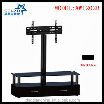 Wood Led Lcd Tv Trolley Stand Designs For Living Room